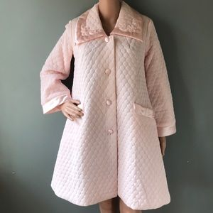 Vintage Quilted Pink House Coat